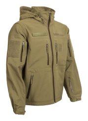 kapucnis szélálló softshell dzseki