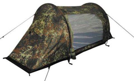 Terepszínű oldalbejáratos sátor