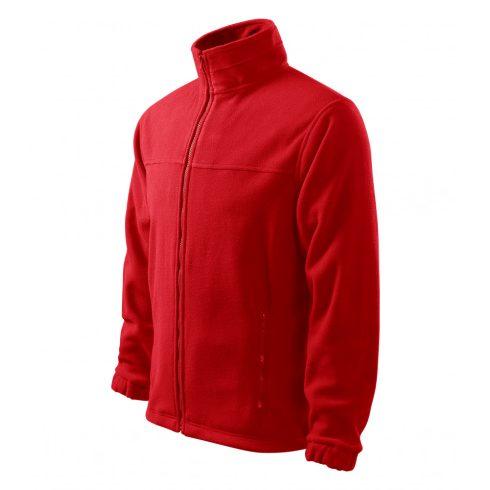 Férfi piros színű polár dzseki - M méret