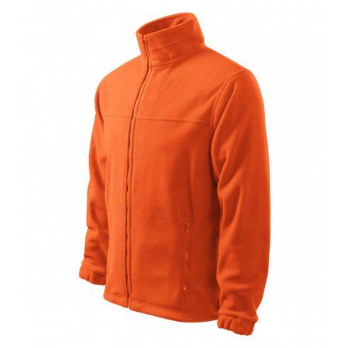 Férfi narancssárga színű polár dzseki - M méret