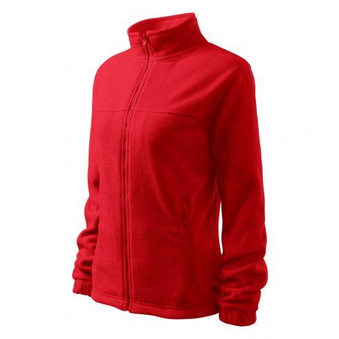 Női piros színű polár dzseki - S méret