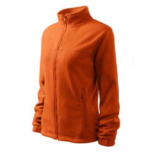 Női narancssárga színű polár dzseki - L méret