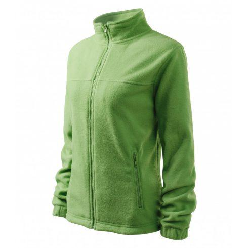 Női borsózöld színű polár dzseki - S méret