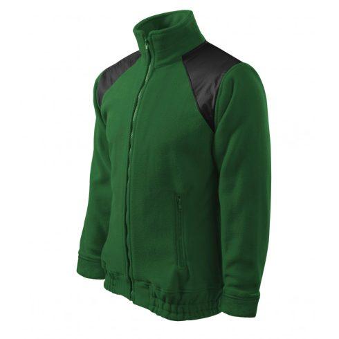 Unisex üvegzöld színű polár dzseki - L méret