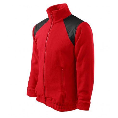 Unisex piros színű polár dzseki - L méret