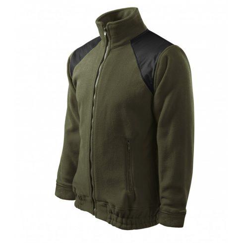 Unisex military színű polár dzseki - S méret