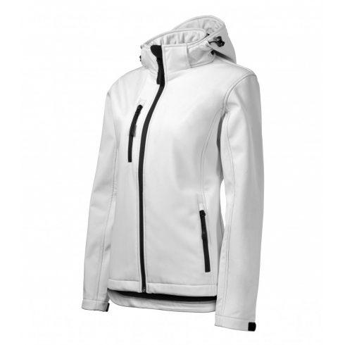 Női fehér színű softshell kabát - 2XL méret