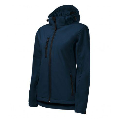 Női tengerészkék színű softshell kabát - L méret
