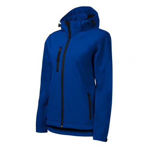 Női királykék színű softshell kabát - XS méret