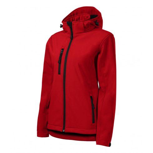 Női piros színű softshell kabát - S méret