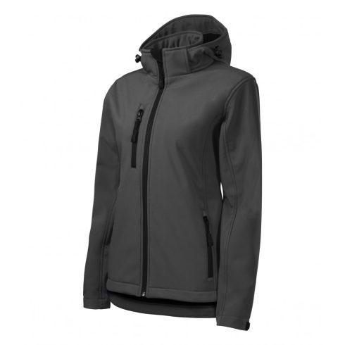 Női acélszürke színű softshell kabát - XS méret