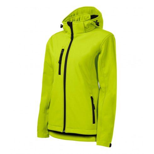 Női lime színű softshell kabát - XL méret