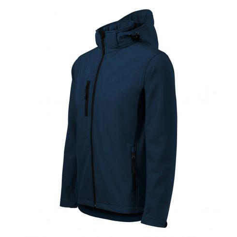 Férfi tengerészkék színű softshell kabát - S méret
