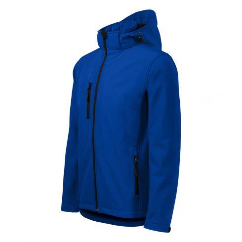 Férfi királykék színű softshell kabát - L méret