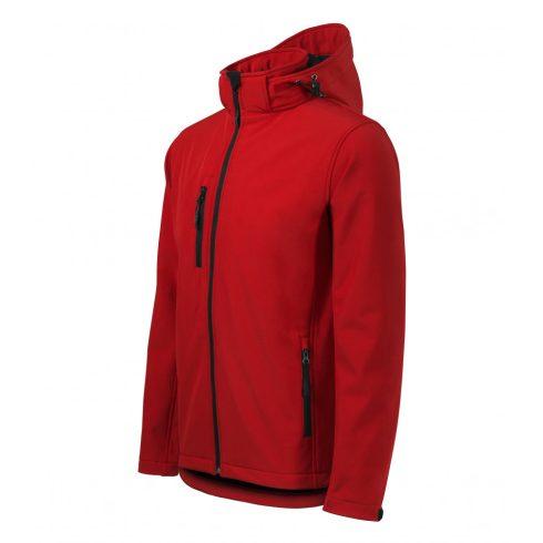 Férfi piros színű softshell kabát - S méret