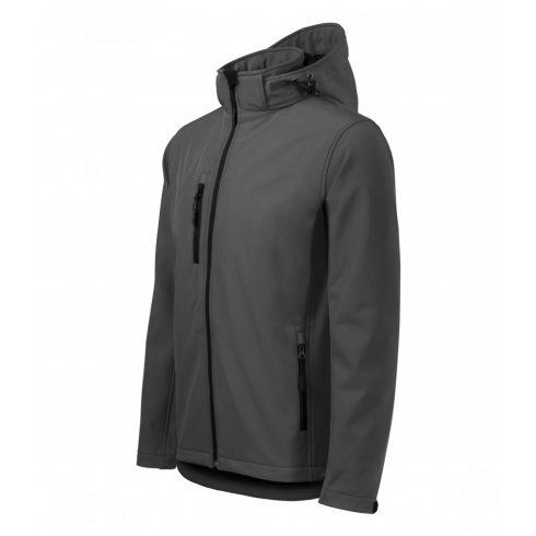 Férfi acélszürke színű softshell kabát - S méret