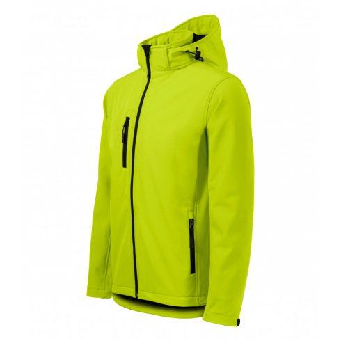 Férfi lime színű softshell kabát - L méret