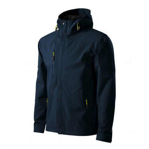 Férfi tengerészkék színű softshell kabát - 3XL méret