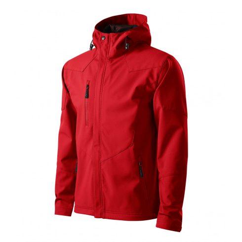 Férfi piros színű softshell kabát - M méret