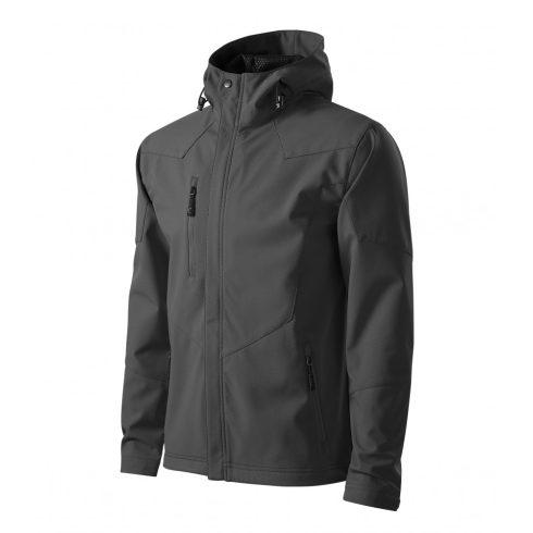 Férfi acélszürke színű softshell kabát - 2XL méret