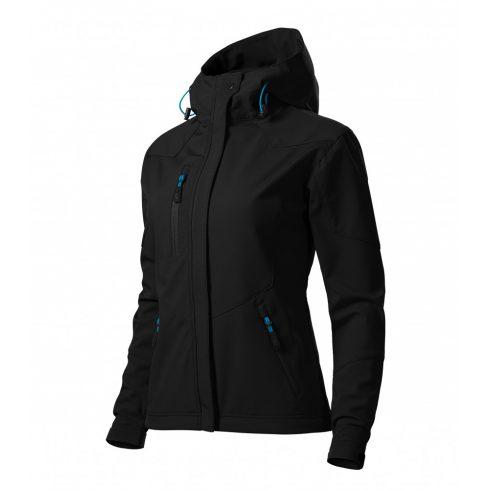 Női fekete színű softshell kabát - 2XL méret