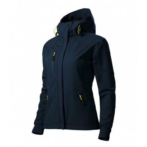 Női tengerészkék színű softshell kabát - M méret