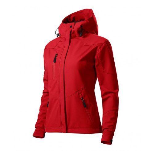 Női piros színű softshell kabát - L méret