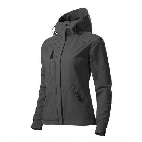Női acélszürke színű softshell kabát - M méret