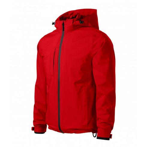 Férfi piros színű 3 az 1-ben kabát - L méret