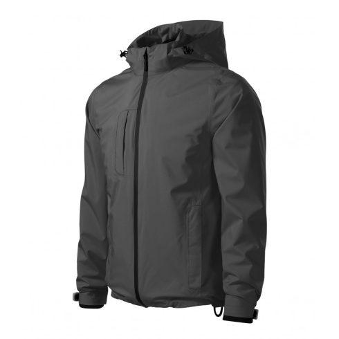 Férfi acélszürke színű 3 az 1-ben kabát - S méret