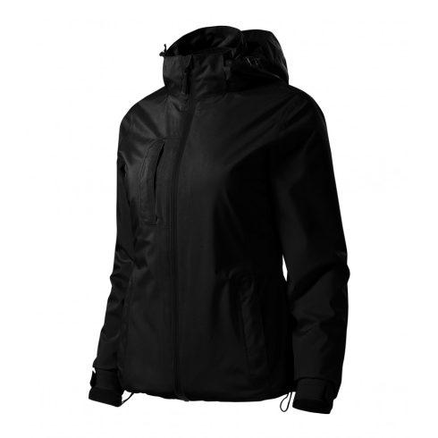 Női fekete színű 3 az 1-ben kabát - M méret