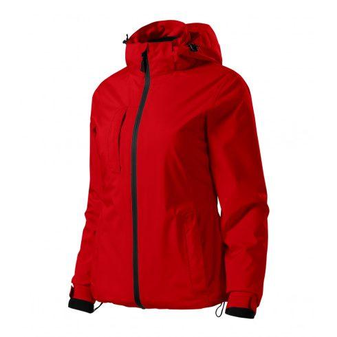 Női piros színű 3 az 1-ben kabát - M méret