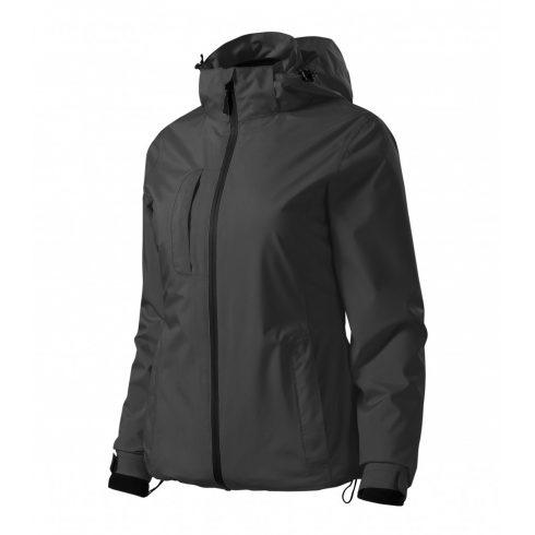 Női acélszürke színű 3 az 1-ben kabát - L méret