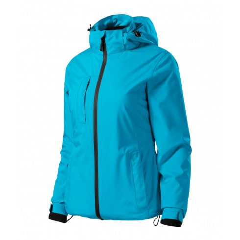 Női türkiz színű 3 az 1-ben kabát - S méret