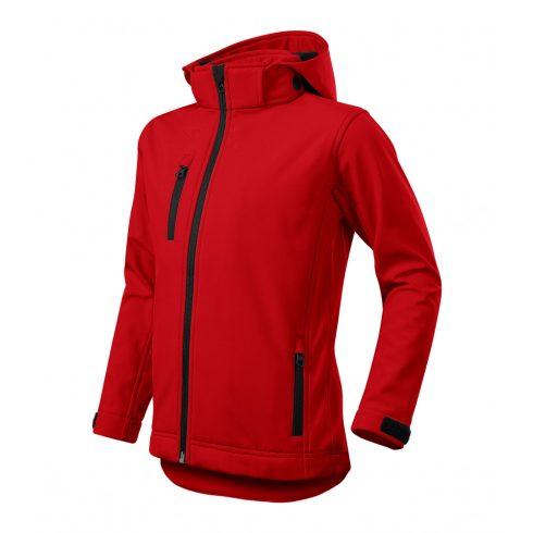 Gyerek piros színű softshell kabát - 122 cm/6 éves méret