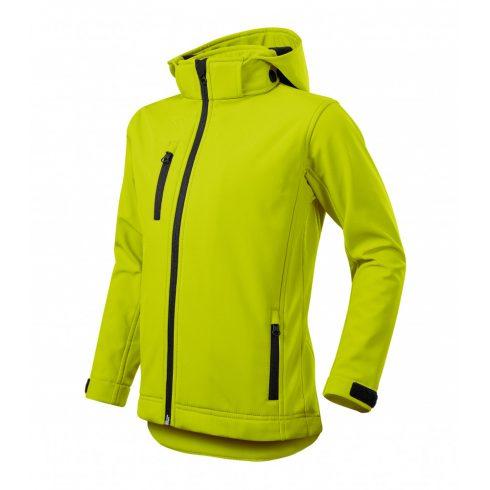 Gyerek lime színű softshell kabát - 134 cm/8 éves méret