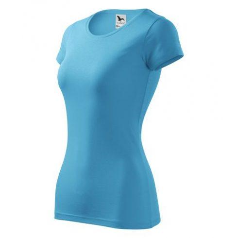 Környakú rövid ujjú női póló, 180g - többféle színben