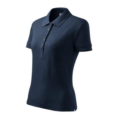 Galléros női póló hosszított hátrésszel, 170g - több színben