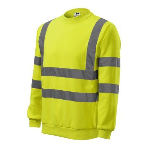 Láthatósági pulóver fényvisszaverő csíkokkal - sárga