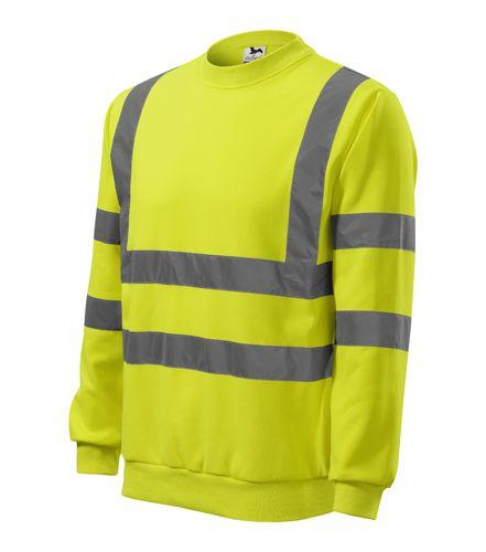 8766a9db9b Láthatósági pulóver fényvisszaverő csíkokkal - sárga - vándor túrabolt