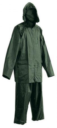 Zöld esőkabát nadrággal
