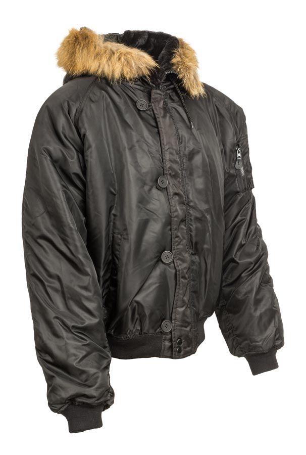 rövid szőrmekapucnis férfi téli kabát - Vándor túrabolt 3755c60be0
