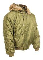 rövid szőrmekapucnis unisex téli kabát