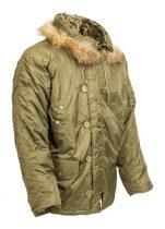 hosszú szőrmekapucnis férfi téli kabát