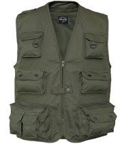 zöld safari mellény - Vándor túrabolt - túra ruházat - mellények