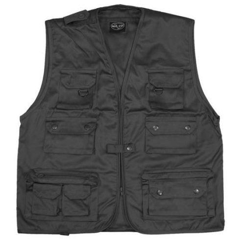fekete safari mellény - Vándor túrabolt - túra ruházat