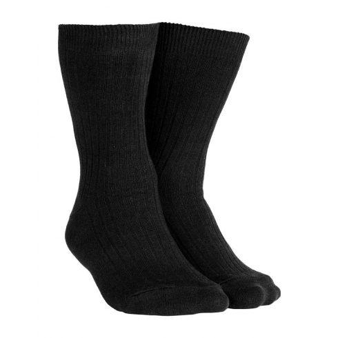 Fekete pamut zokni