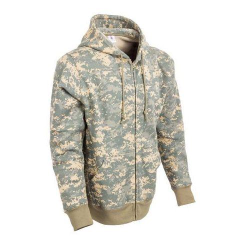 Digitális terepszínű kapucnis pulóver