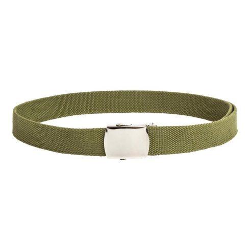 Vékony zöld öv fém csattal