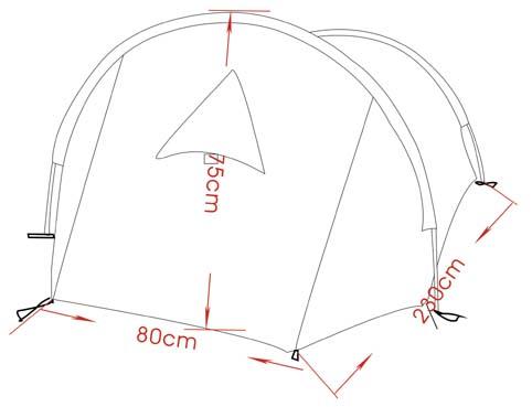 egyszemélyes sátor méretei